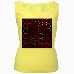 Color Bee Hive Pattern Women s Yellow Tank Top by Amaryn4rt