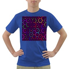 Color Bee Hive Pattern Dark T Shirt by Amaryn4rt