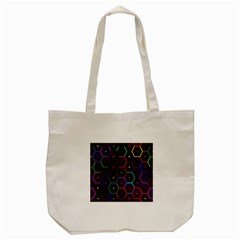 Color Bee Hive Pattern Tote Bag (cream) by Amaryn4rt