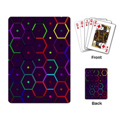 Color Bee Hive Pattern Playing Card by Amaryn4rt