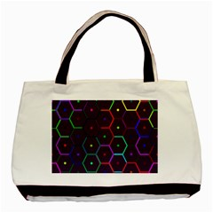 Color Bee Hive Pattern Basic Tote Bag by Amaryn4rt