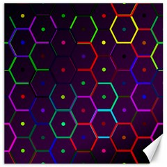 Color Bee Hive Pattern Canvas 12  X 12   by Amaryn4rt
