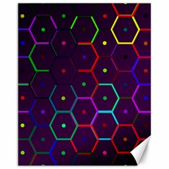 Color Bee Hive Pattern Canvas 16  X 20   by Amaryn4rt