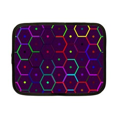 Color Bee Hive Pattern Netbook Case (small)  by Amaryn4rt