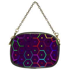 Color Bee Hive Pattern Chain Purses (one Side)  by Amaryn4rt