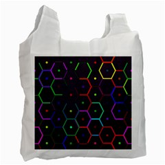 Color Bee Hive Pattern Recycle Bag (one Side) by Amaryn4rt