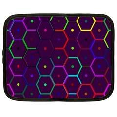 Color Bee Hive Pattern Netbook Case (xxl)  by Amaryn4rt