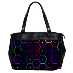 Color Bee Hive Pattern Office Handbags by Amaryn4rt