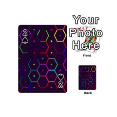 Color Bee Hive Pattern Playing Cards 54 (mini)  by Amaryn4rt