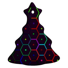 Color Bee Hive Pattern Ornament (christmas Tree)  by Amaryn4rt