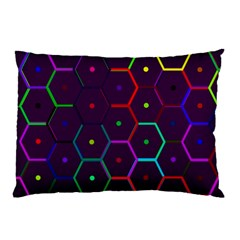 Color Bee Hive Pattern Pillow Case (two Sides) by Amaryn4rt