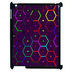 Color Bee Hive Pattern Apple Ipad 2 Case (black) by Amaryn4rt