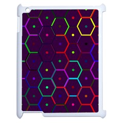 Color Bee Hive Pattern Apple Ipad 2 Case (white) by Amaryn4rt