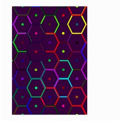 Color Bee Hive Pattern Small Garden Flag (two Sides) by Amaryn4rt