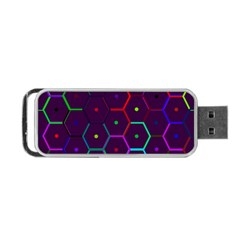 Color Bee Hive Pattern Portable Usb Flash (one Side) by Amaryn4rt