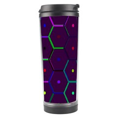 Color Bee Hive Pattern Travel Tumbler by Amaryn4rt