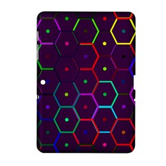 Color Bee Hive Pattern Samsung Galaxy Tab 2 (10 1 ) P5100 Hardshell Case  by Amaryn4rt