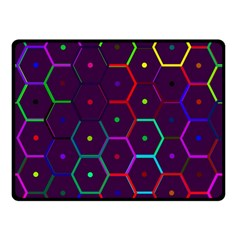 Color Bee Hive Pattern Double Sided Fleece Blanket (small)  by Amaryn4rt