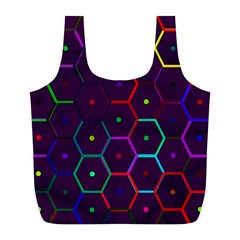 Color Bee Hive Pattern Full Print Recycle Bags (l)  by Amaryn4rt