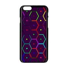 Color Bee Hive Pattern Apple Iphone 6/6s Black Enamel Case by Amaryn4rt