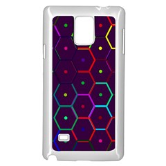 Color Bee Hive Pattern Samsung Galaxy Note 4 Case (white) by Amaryn4rt