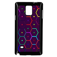 Color Bee Hive Pattern Samsung Galaxy Note 4 Case (black) by Amaryn4rt