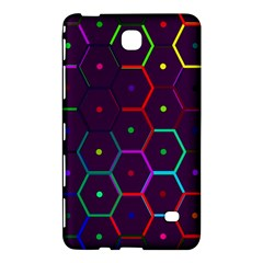Color Bee Hive Pattern Samsung Galaxy Tab 4 (8 ) Hardshell Case  by Amaryn4rt