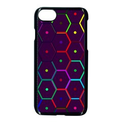 Color Bee Hive Pattern Apple Iphone 7 Seamless Case (black) by Amaryn4rt