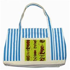 Set Of Monetary Symbols Striped Blue Tote Bag by Amaryn4rt