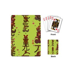 Set Of Monetary Symbols Playing Cards (mini)  by Amaryn4rt