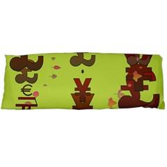 Set Of Monetary Symbols Body Pillow Case Dakimakura (two Sides) by Amaryn4rt