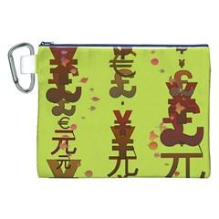 Set Of Monetary Symbols Canvas Cosmetic Bag (xxl) by Amaryn4rt