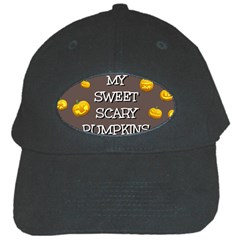 Scary Sweet Funny Cute Pumpkins Hallowen Ecard Black Cap by Amaryn4rt