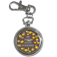 Scary Sweet Funny Cute Pumpkins Hallowen Ecard Key Chain Watches by Amaryn4rt