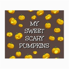 Scary Sweet Funny Cute Pumpkins Hallowen Ecard Small Glasses Cloth by Amaryn4rt