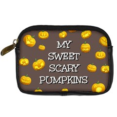 Scary Sweet Funny Cute Pumpkins Hallowen Ecard Digital Camera Cases by Amaryn4rt