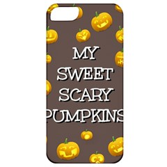 Scary Sweet Funny Cute Pumpkins Hallowen Ecard Apple Iphone 5 Classic Hardshell Case by Amaryn4rt