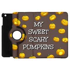 Scary Sweet Funny Cute Pumpkins Hallowen Ecard Apple Ipad Mini Flip 360 Case by Amaryn4rt