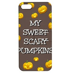 Scary Sweet Funny Cute Pumpkins Hallowen Ecard Apple Iphone 5 Hardshell Case With Stand by Amaryn4rt