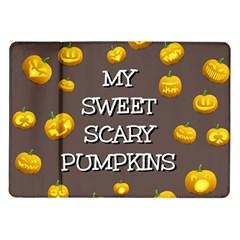 Scary Sweet Funny Cute Pumpkins Hallowen Ecard Samsung Galaxy Tab 10 1  P7500 Flip Case by Amaryn4rt