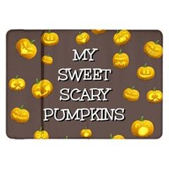 Scary Sweet Funny Cute Pumpkins Hallowen Ecard Samsung Galaxy Tab 8 9  P7300 Flip Case by Amaryn4rt