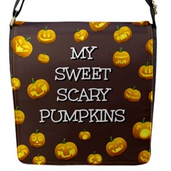 Scary Sweet Funny Cute Pumpkins Hallowen Ecard Flap Messenger Bag (s) by Amaryn4rt