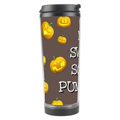 Scary Sweet Funny Cute Pumpkins Hallowen Ecard Travel Tumbler by Amaryn4rt