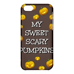 Scary Sweet Funny Cute Pumpkins Hallowen Ecard Apple Iphone 5c Hardshell Case by Amaryn4rt