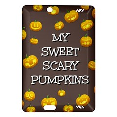 Scary Sweet Funny Cute Pumpkins Hallowen Ecard Amazon Kindle Fire Hd (2013) Hardshell Case by Amaryn4rt