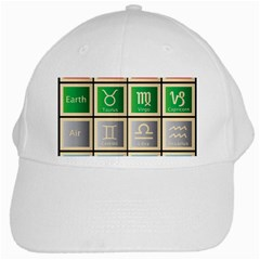 Set Of The Twelve Signs Of The Zodiac Astrology Birth Symbols White Cap by Amaryn4rt