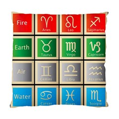 Set Of The Twelve Signs Of The Zodiac Astrology Birth Symbols Standard Cushion Case (one Side) by Amaryn4rt