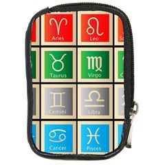 Set Of The Twelve Signs Of The Zodiac Astrology Birth Symbols Compact Camera Cases by Amaryn4rt