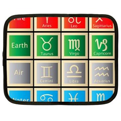 Set Of The Twelve Signs Of The Zodiac Astrology Birth Symbols Netbook Case (xxl)  by Amaryn4rt