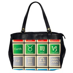 Set Of The Twelve Signs Of The Zodiac Astrology Birth Symbols Office Handbags (2 Sides)